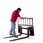 Skid Steer Pallet Forks by Everything Attachments